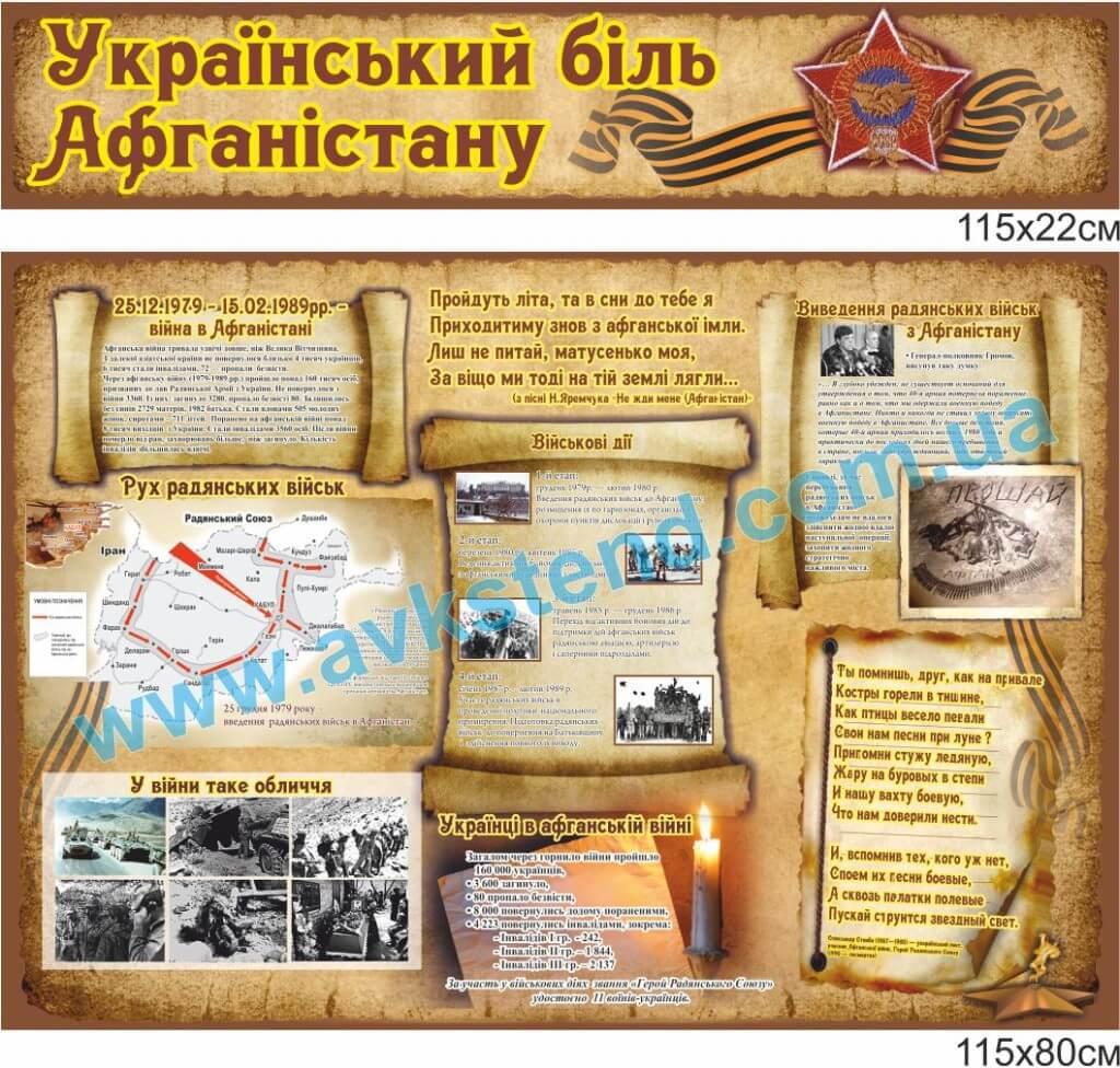 2040805, українська біль Афганістану, стенд Афганістан, стенды для кабинета истории