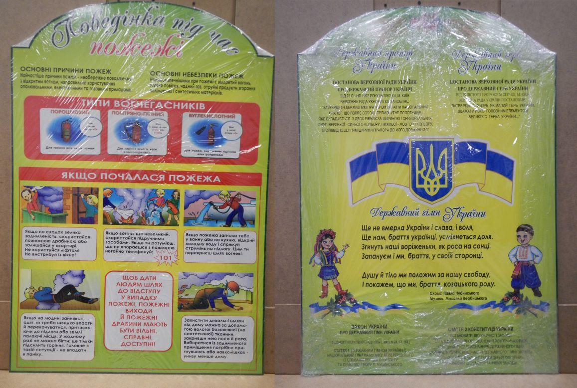 Поведінка під час пожежі, Державна символіка України