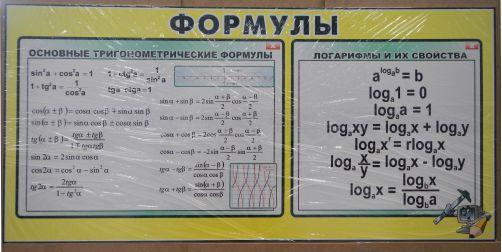 Формули російською мовою, формулы